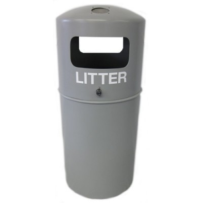 Hooded Top Litter Bin with stubber
