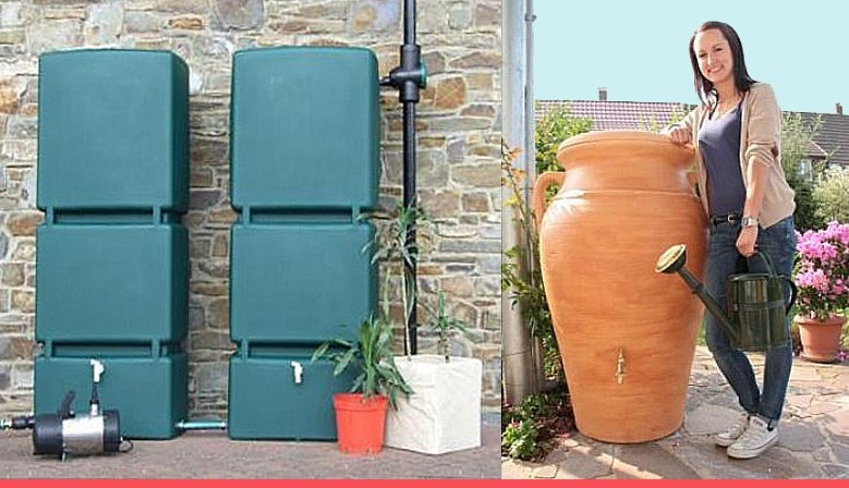 Decorative and stylish high capacity water butts